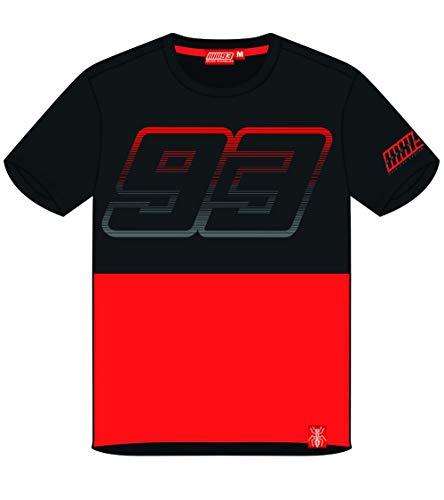 Marc Marquez Camiseta 93 Negro Rojo XXL