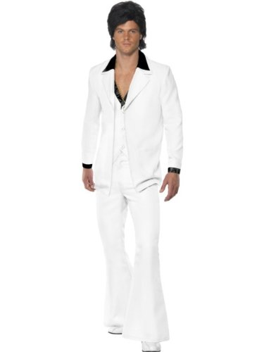 Smiffy's - Costume Anni '70, Uomo, taglia: Medium, colore: Bianco