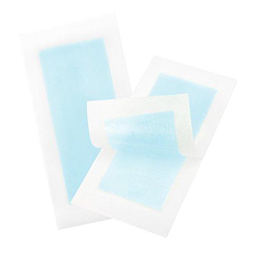 sharprepublic 10pcs Bandes de Cire Dépilatoire à Usage Professionnel Épilation Papier Non-Tissés Épilateur Femmes Cire Bande de Papier pour Visage Corps - Bleu