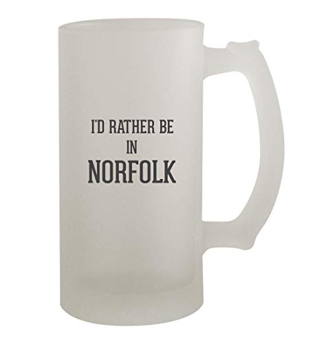 I'd Rather Be In NORFOLK - 16oz Frosted Beer Mug Stein, Frosted