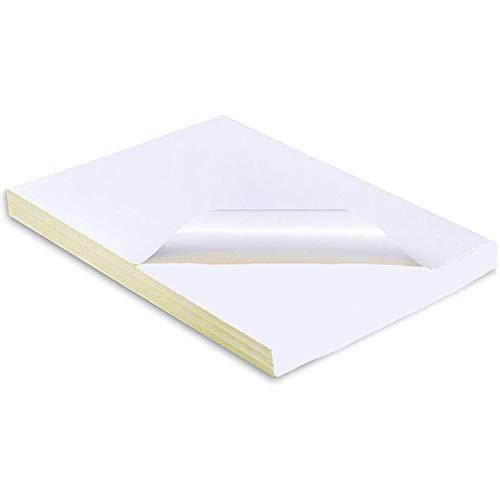 VIRSUS Etichette Adesive in Carta Vellum A4 160 gr 300 pezzi misura etichette 210x297mm etichette a foglio intero autoadesivo permanente per stampanti 1 etichetta per foglio