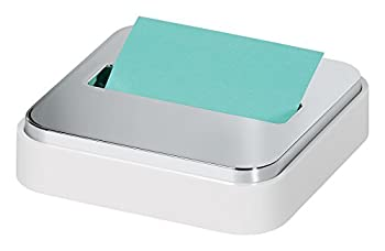 Post-it Dispenser Sticky Dispenser 3x3 in White & Silver Easy One Handed Dispensing  STL-330-W