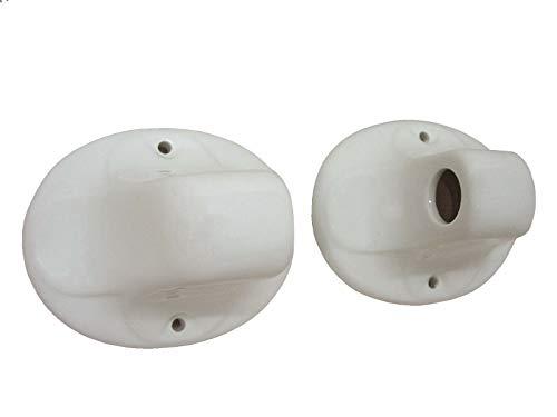 Lateral TOALLERO Pared para Barra Porcelana Blanco (El Precio es de 1 Unidad. Si Desea el Juego Completo Debe Comprar 2 Unidades)