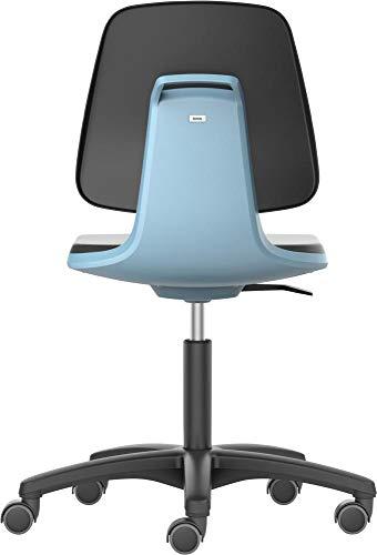 Bimos Arbeitsdrehstuhl Labsit m.Rl.PU-Schaum Sitzschale blau Sitzhöhe 450-650mm - 9123-2000-3277