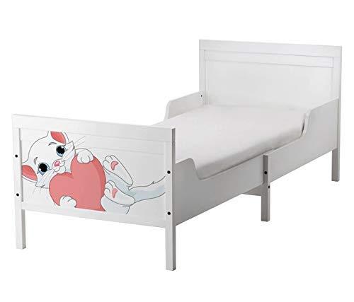 Set Möbelaufkleber für Ikea SUNDVIK Bett Schlafzimmer Kinderzimmer Katze Baby süß Kat2 Kätzchen Herz SU2 Aufkleber Möbelfolie sticker (Ohne Möbel) Folie 25U2669
