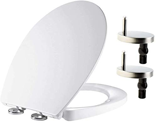 Soft Close Toilet Seat, Oval Toilet Seat, Quick-Release for Easy Cleaning,...