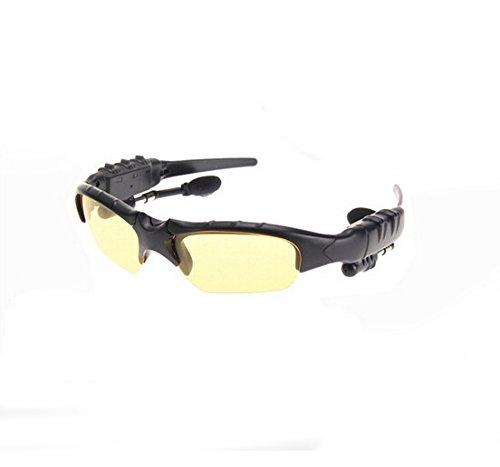 Bluetooth 4.1 Sport Sunglasses Headset Stereo Music Headphone Wireless Handfree Yellow
