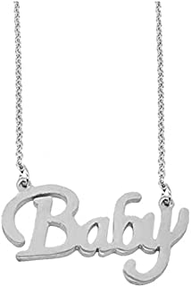Utkarsh Silver Color Fancy & Stylish Trending Valentine's Day Special Metal Stainless Steel Baby Name Letter Locket Pendan...