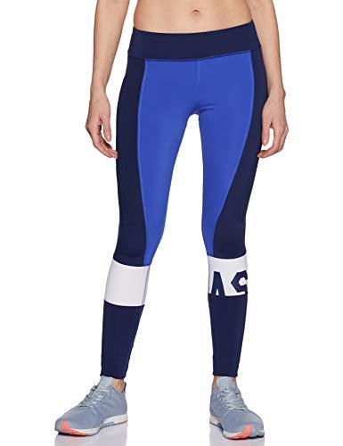 Asics Women's Color Block Tight Leggings, Blauw (Blauw 146422-8091), Eén (Maat: Medium)