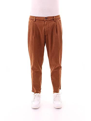 PAOLO PECORA B041 0017 Pantaloni Uomo Cuoio 50