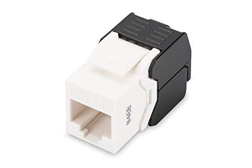 Módulo Keystone DIGITUS - Cat-5e - No apantallado - RJ45 - Clase D - 100 MHz - 1GBase-T - Montaje sin herramientas - Blanco