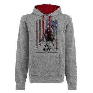 Assassins Creed à capuche III Hoodie Assassin's Creed 3 Burned U.S. Flag à capuche Taille XL pull à capuche