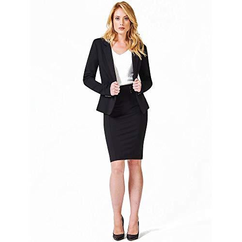 Guess Gonna GUILLERMINA Skirt, Nero (Jet Black A996 Jblk), Large (Taglia Produttore:L) Donna