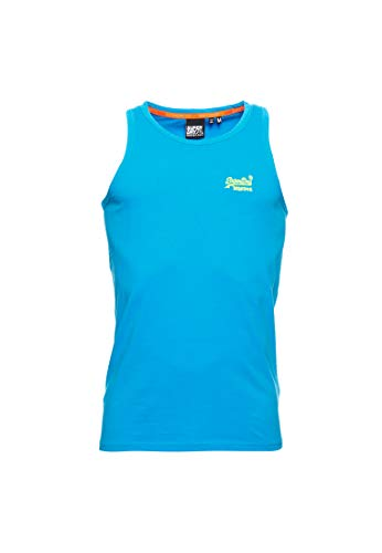 Superdry Herren OL NEON LITE Vest Top, Blau (Electric Blue 89G), X-Large