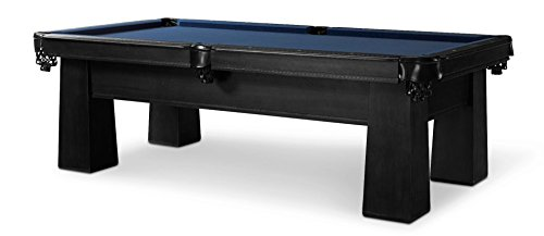 Best Buy! Plank & Hide Carnegie 8 ft Billiards Pool Table w/Drawer - Black