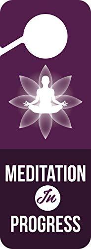 Baby Marley Meditation Door Hanger   Meditation in Progress Sign   (Purple)