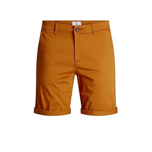 Oferta de Jack & Jones JJIBOWIE JJSHORTS Solid SA STS Pantalones Chinos, marrón, M para Hombre