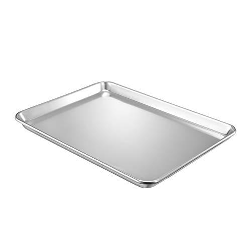 QuCrow Nonstick Baking Sheet Pan, Aluminum Cookie Sheet, Bakers Half Sheet Pan, 18' x 13' x 1', 1 Pack