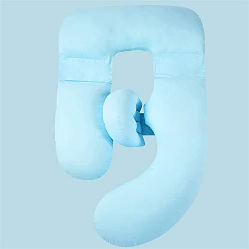 yuanyuanliu Almohada De Las Mujeres Embarazadas, Almohada, Lateral para Dormir Almohadilla para Dormir, Cintura, Almohada, Lavado De Agua Casa De Almohada De Algodón (Color : Blue)