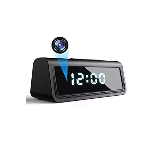 LORIEL Cámara Micro De Reloj WiFi, Cámara En Vivo HD, Soporte De Movimiento De Movimiento/Monitoreo De Voz 4K Videocámara, Adecuada para El Hogar/Oficina,Host +64g Card