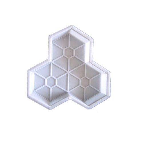 OUNONA Molde de Almohadilla de plástico Forma Hoja de Arce DIY para Camino 25x 25x 5cm