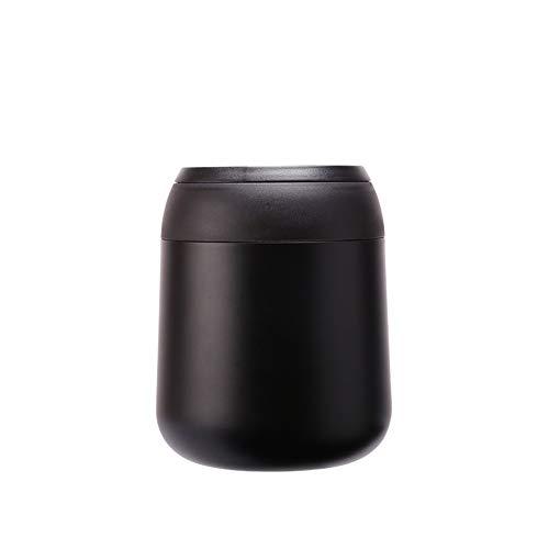 Bento Box voor volwassenen Lunch Japans-stijl 316 roestvrij staal draagbare lunchbox op lange termijn isolatie met vouwlepel Modern design size Zwart