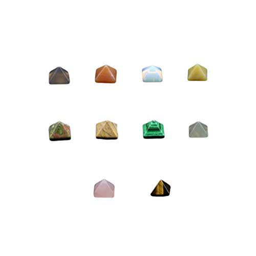 Healifty Juego de 10 Piezas de Pirámide Chakra Pirámide Grabada Piedra de Cristal de Pirámide de Cuarzo para Decoración Artesanal