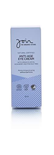 Join - Anti-Aging Augencreme, biozertifiziert, mit nativem Olivenöl, Acaibeeren und Seidenakazie - 15ml.