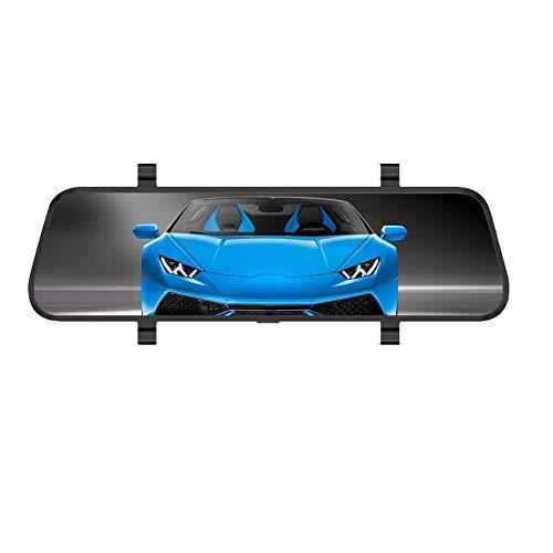 Domybest Caméra de Bord Voiture Double Objectif écran Tactile LCD 9.66 Pouces 1080P FHD 6X Zoom WDR Rétroviseur Caméra DVR Enregistreur Vidéo
