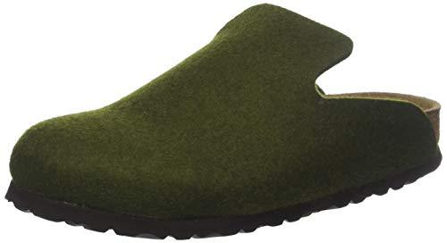 Birkenstock Davos, Pantofole Aperte sul Retro Unisex-Adulto, Verde Olive, 40 EU