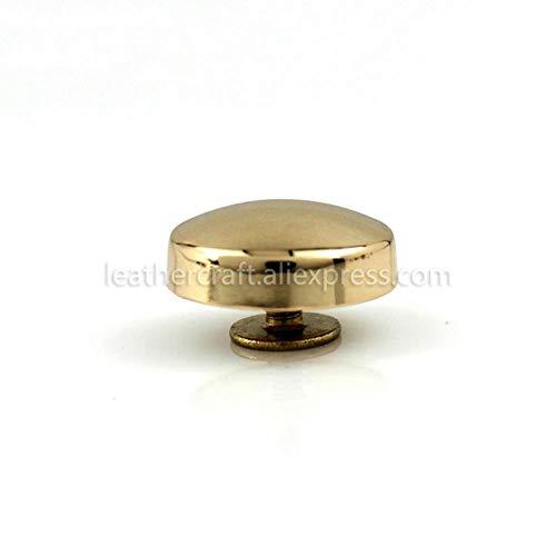 4 stks Metaal Ronde Schroef Terug klinknagels Studs Nagel Stud voor Kleding Leer Craft Riem Tas Portemonnee Decoratie Hardware 16mm goudkleurig