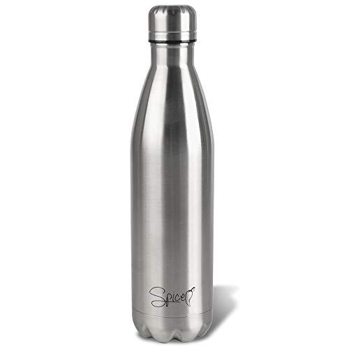SPICE Bottiglia Borraccia Termica in Acciaio Inox Isolamento sottovuoto con Doppia Parete - Acqua e Drink 750 ml BPA Free per Adulti Bambini Studenti