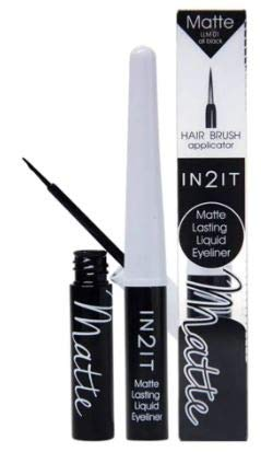IN2IT Matte Lasting Liquid Eyeliner LLM01 Black 1's -Matte Lasting Liquid Eyeliner enrich with Volatile Solvent That Provide Fast Drying and Subtle Sparkle to Complete Your Look