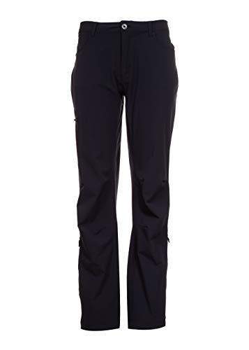 Swiss Alps Damenhose, Sonnenschutz, wasserabweisend, mit Mehreren Taschen, aufrollbare Manschetten - Schwarz - X-Groß