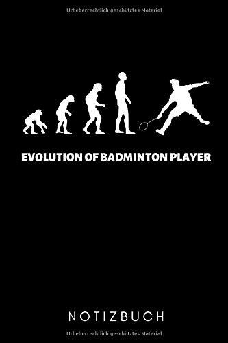 EVOLUTION OF BADMINTON PLAYER NOTIZBUCH: A5 WOCHENKALENDER Badminton Geschenk | Sport | Federball | Zubehör | Trainer | für Papa Mama Freunde Partner | Sportler | Badmintonbuch | Training