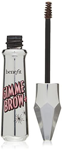 Benefit Gimme Brow+ Gel con fibre volumizzanti per sopracciglia, 3 tonalità neutre medie, confezione da 1 pezzo, 3 Medium neutro marrone chiaro
