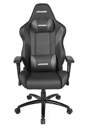 AKRacing Core Series LX Plus Ergonomic Black Gaming Chair with Racing Seat, 330 Lbs Weight Limit, Rocker and Seat Height Adjustment Mechanisms with 5/10 Warranty black chair gaming