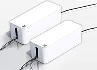 Bluelounge CableBox Cable and Cord Management System - (White) - Pack of 2
