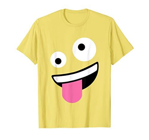 Wacky Emoji Face Halloween Costume T-Shirt