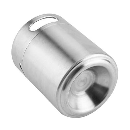 Barril de Cerveza, práctico con Tapa en Espiral Barril de Cerveza de Acero Inoxidable, para Uso doméstico para Hombres al Aire Libre enólogos(2L)