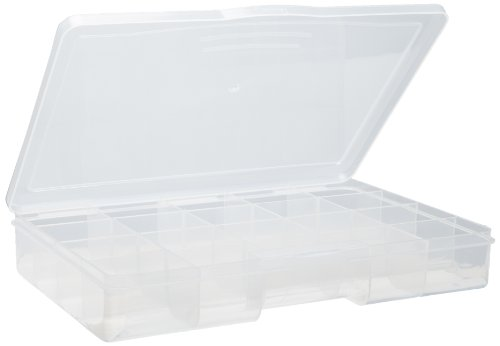 Paylak CTNB102 Impact Resistant Storage Box with 20 Compartment Craft Clear Organizer Tray
