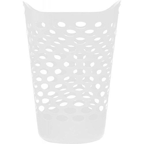 Paris Prix Clean House - Corbeille à Linge 60L Blanc