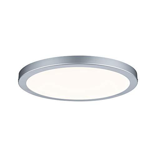 Paulmann 70865 Aufbaupanel LED Atria rund Deckenleuchte 22W Licht 2700K Warmweiß LED Panel Chrom matt dimmbar für Wand- und Deckenmontage