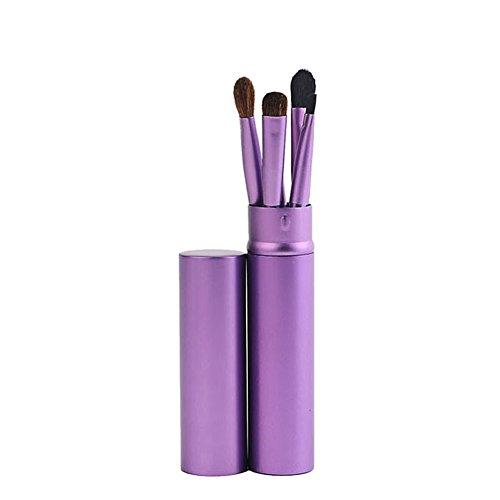 CAOLATOR Portable Ensemble d'outils de maquillage Ombre à paupières brosse à sourcils pinceau eye liner pinceau de maquillage pour les maquilleurs et également amateurs 5PCS Voilet (Violet)