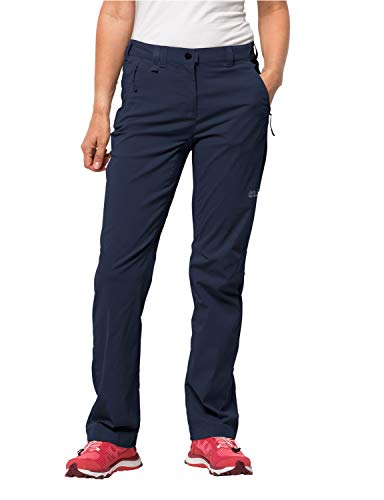Jack Wolfskin Damen Activate Light Pants Women Wasserabweisend Elastisch Atmungsaktiv Windabweisend Outdoor Softshell, Wanderhose Hose, Midnight Blue, 44