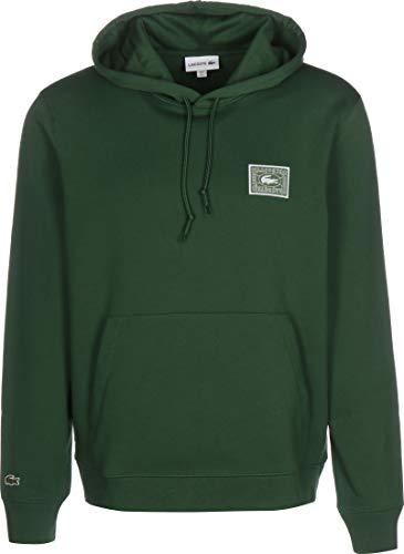 Lacoste Herren SH5167 Kapuzenpulli, Männer Kapuzenpullover,Hoodie,Sweatshirt,Logo, Regular Fit,Green(132),Medium (4)