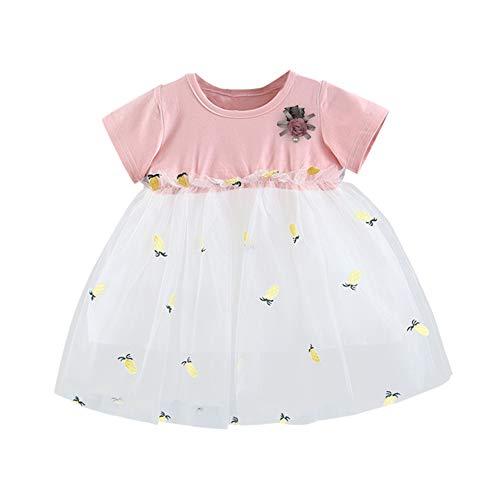 BAOBAOLAI Roupas para bebês meninas vestido de tutu de abacaxi roupas de manga curta