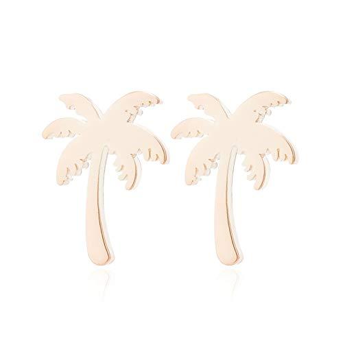 Ohrringe vergoldet Ohrstecker Palme | Trendschmuck | Minimalistisch | Geo | Minimal | Damenohrring | Frauenohrring | Geschenkidee