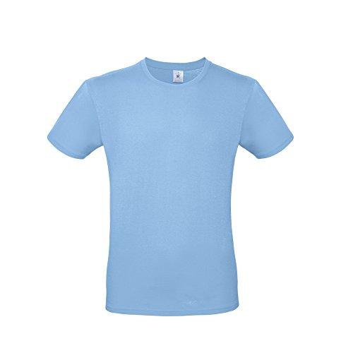 B&C E150 - Maglietta a Maniche Corte - Uomo (L) (Azzurro Cielo)