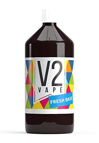 V2 Vape E-Liquid Grundstoff Base Basis Pharmaqualität reinst zum selber mischen von E-Liquids für E-Zigarette und E-Shisha 0mg nikotinfrei 1000ml Grundstoff/Base Fresh
